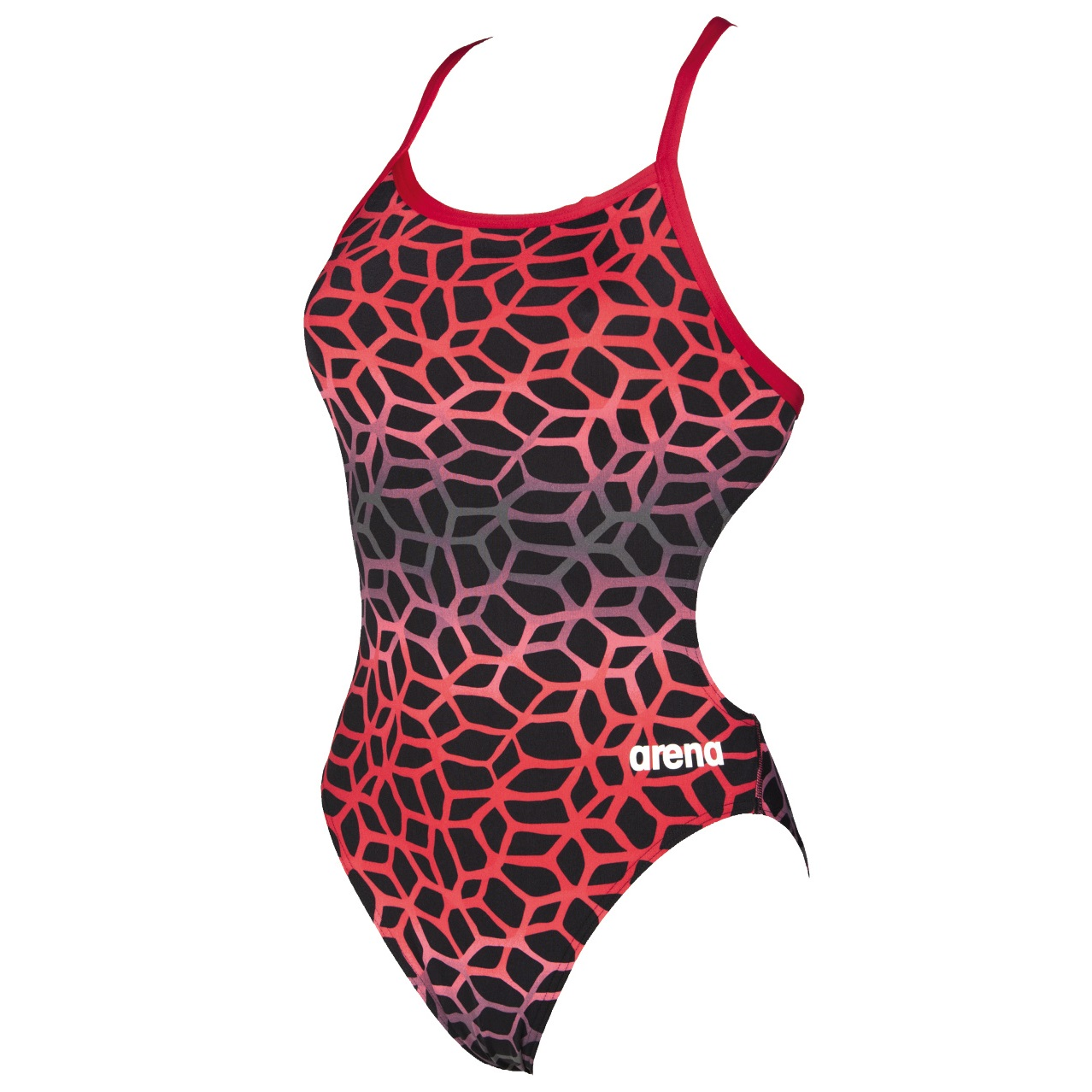 arena polycarbonite challenge back one piece red